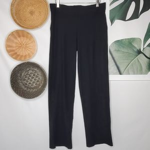 Eileen Fisher Black Nylon Crop Pants Career Slacks